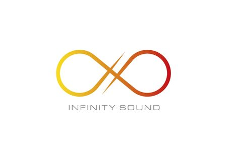 Infinity sound white Stock Vector - 39557914