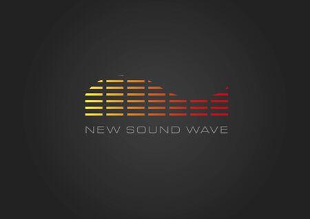 New sound wave black Stock Vector - 39572045