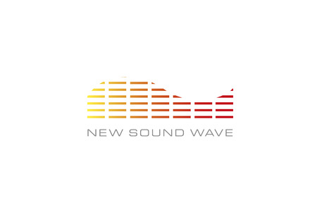 New sound wave white Illustration