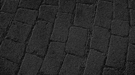 Graphic drawing of paving stones in an ancient square in the old city. Gray background with black pattern. Фото со стока