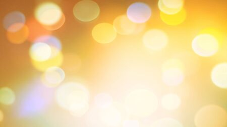 Holiday background or greeting card. Sun glare in high spirits. The nuances of orange, yellow and white. Shining bokeh in pastel colors