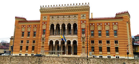 City Hall, Sarajevo, Bosnia and Herzegovina. Vijecnica is the national library. the largest and most representative building of the Austro-Hungarian period in Sarajevo and served as the city hall