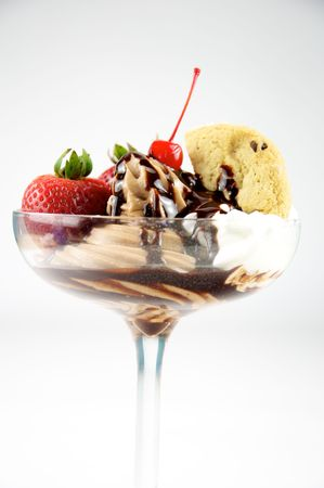 Chocolate Sundae Stockfoto