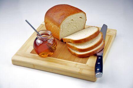 Homemade White Bread with Honey Imagens