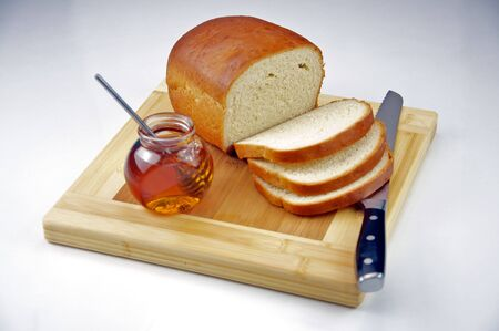 Homemade White Bread with Honey Stockfoto