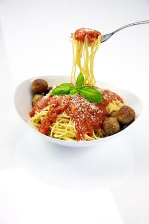 Spaghetti with Meatballs Imagens