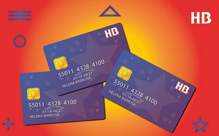 Carte de crédit Vecteurs