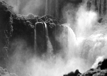 Roaring waterfall. Stock Photo