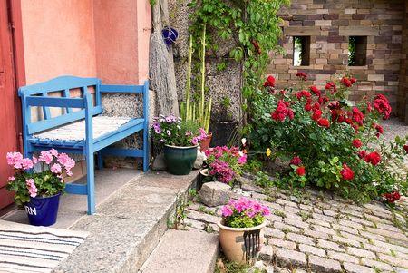 Beautifully decorated garden.