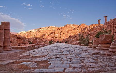 Ancient Road in Petra, Jordan.