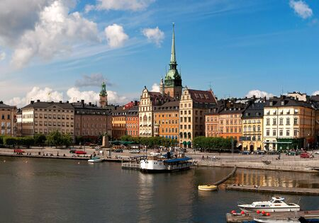 Old Town waterfront, Stockholm. Stock Photo