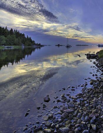 Bay in Stockholm archipelago. photo