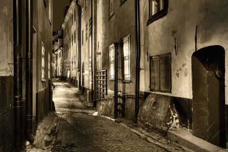 Old Town, sepiatoned. Stock Photo