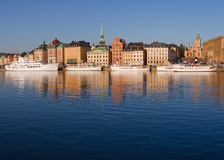 Waterfront in Stockholm Old Town.