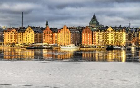 Winter image of Kungsholmen, Stockholm.