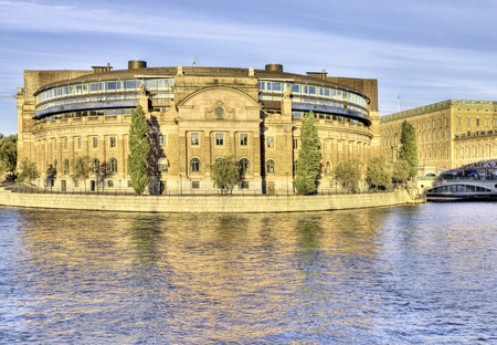Swedish Parliament building in Stockholm. Stock Photo - 11839989