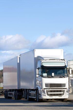 Big white truck. photo