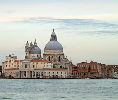 Beautiful basilica Santa Maria Della Salute in Venice, Italy. photo