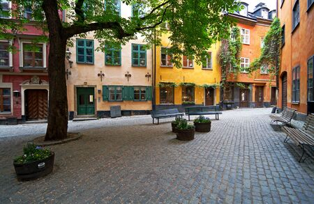 Stockholm Old Town square in summer. photo