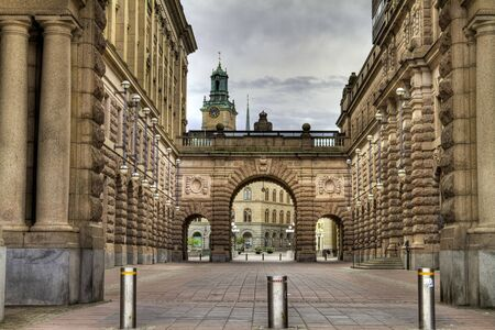 Swedish Parliament building in Stockholm.