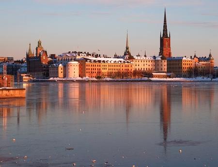 Riddarholmen in Stockholm in winter.