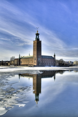 Stockholm City hall in winter. photo
