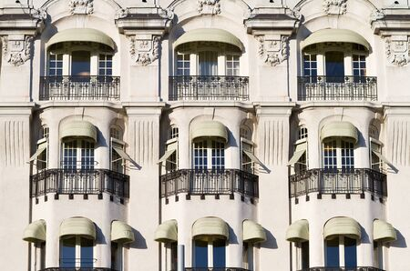 Vintage facade with decorative balconies. Stock Photo - 17020059