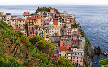 Manarola, one of the picturesque villages in Cinque terre area  photo