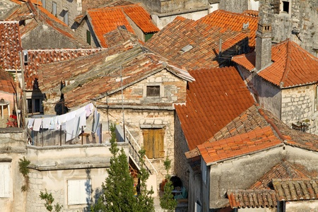 Medieval town in Dalmatia, Croatia  Stock Photo - 20554648
