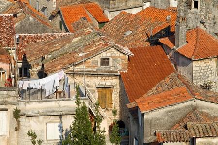 Medieval town in Dalmatia, Croatia