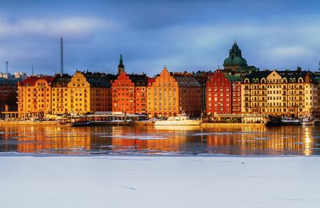 Stockholm, Riddarfjarden and Kungsholmen in winter