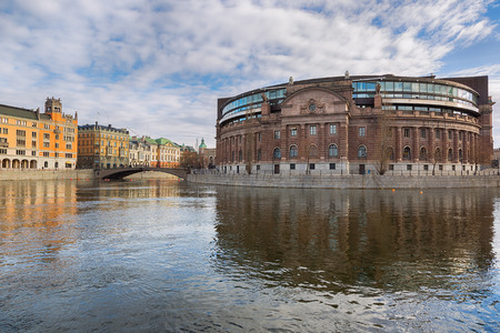 Riksdagen  Swedish parliament building in Stockholm  photo