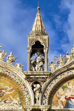 marco: Architectural details from Basilica San Marco in Venice, Italy.