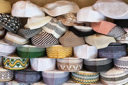 skullcap: Fez or tarboosh popular headdress in Morocco.