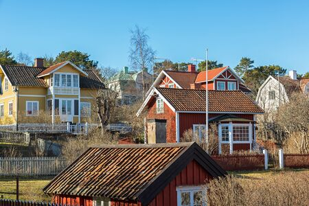 typical: Typical Stockholm archipelago village.