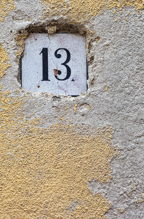 superstition: Number 13. Unlucky number.