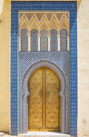 and magnificent: Magnificent oriental doorway with beautiful ceramic and tile work.
