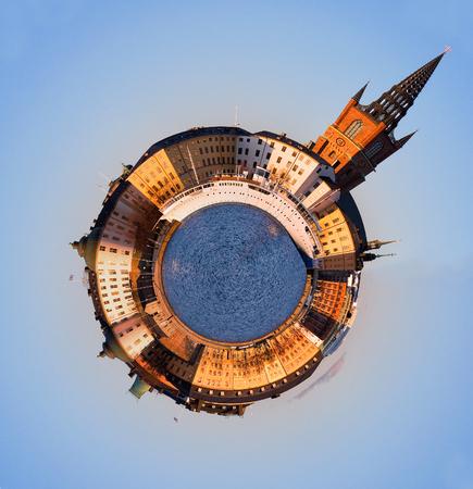 spherical: Riddarholmen Stockholm, spherical panorama.