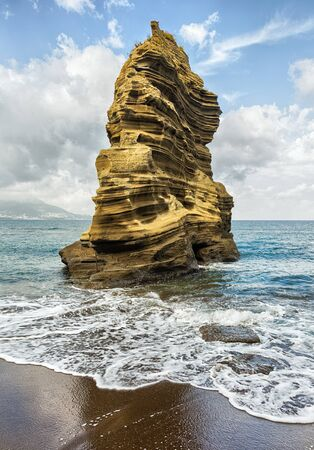 large formation: Big rock in the mediterranean sea.