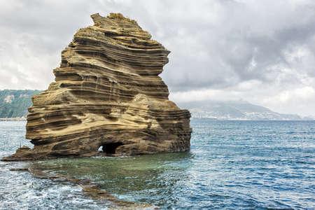rock formation: Rock formation on the Italian coast. Stock Photo
