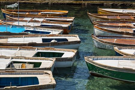 fishingboats: Traditional wooden fishing-boats.