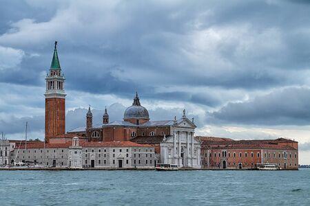historical buildings: Historical buildings on waterfront in Venice.