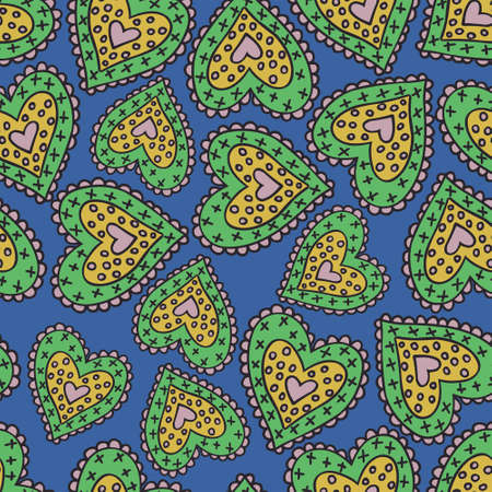 beguin: Beautiful seamless colored pattern with nice hearts.