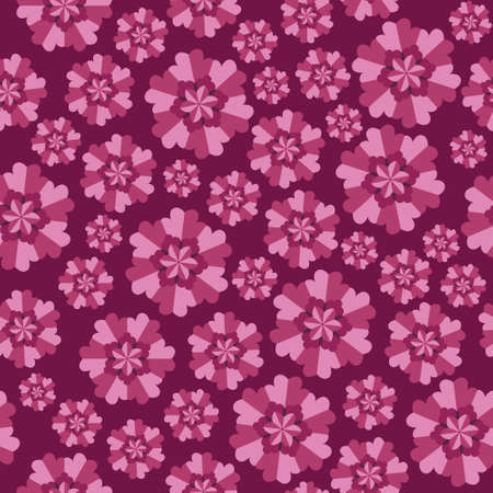 volute: Seamless abstract pattern with flowers