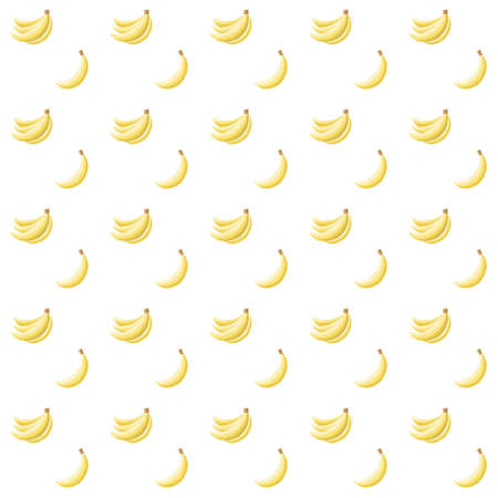 Seamless pattern with bananas on white background Vector