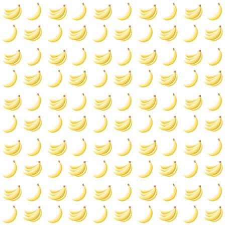 Beautiful seamless pattern with bananas Vector