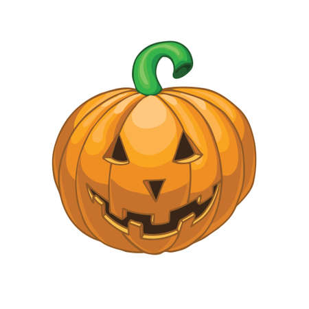 bugaboo: Halloween pumpkin isolated on white background