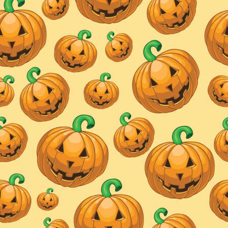 bugaboo: Seamless halloween pattern with pumpkins Illustration