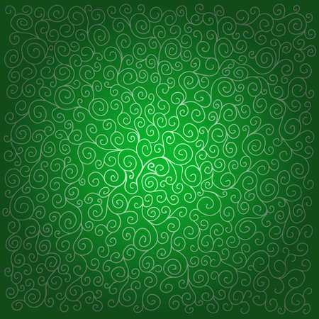 twiddle: Pattern with curls on dark green background. Can be used for wallpaper, pattern fills, greeting cards, webpage backgrounds, wrapping paper, scrap booking and textile or fabric.