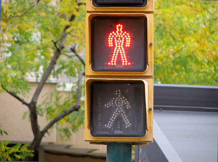 Pedestrian traffic lights red light photo